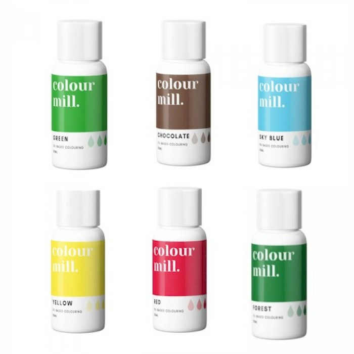Colour Mill Oil Based Colouring 20ml Christmas Pack