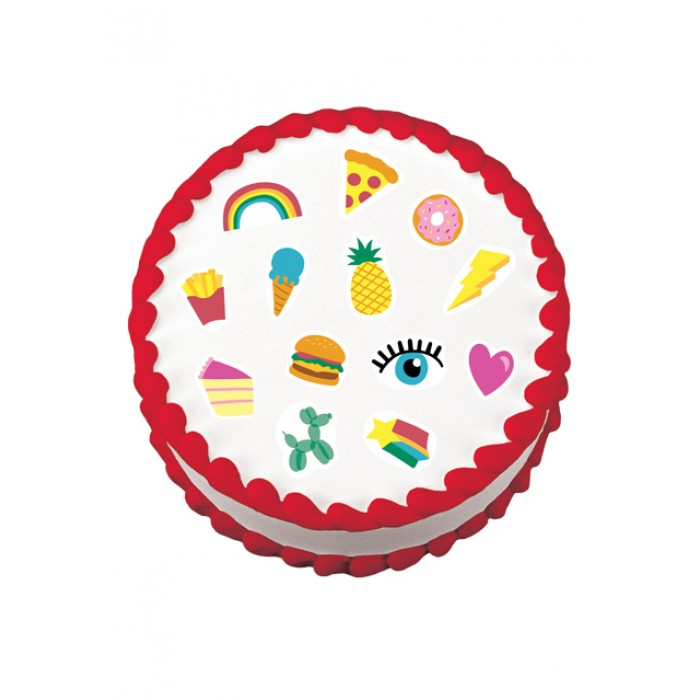 Rainbow Party Variety Edible Image