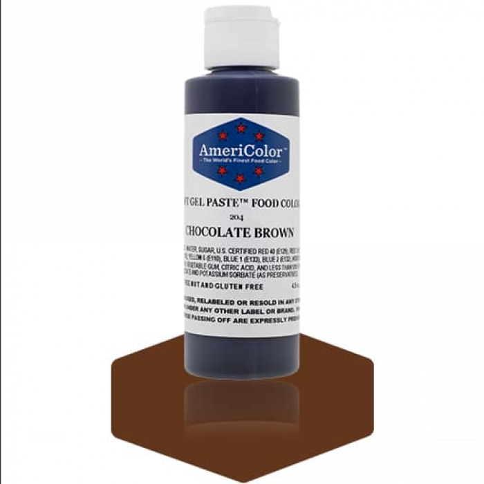 Chocolate Brown Soft Gel Paste from Americolor 4.5 oz