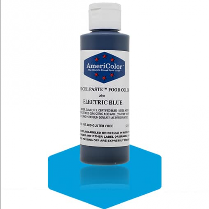 Electric Blue Soft Gel Paste from Americolor 4.5 oz
