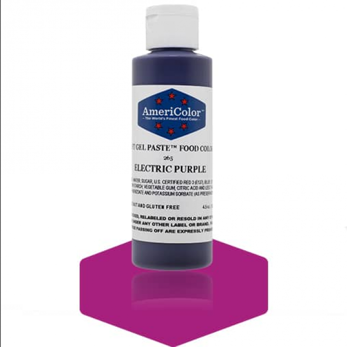 Electric Purple Soft Gel Paste from Americolor 4.5 oz