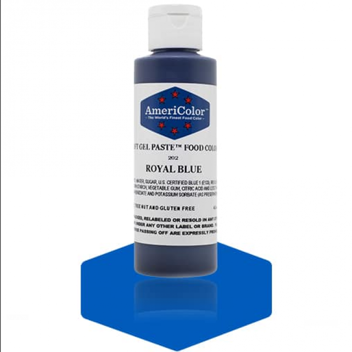 Royal Blue Soft Gel Paste from Americolor 4.5 oz