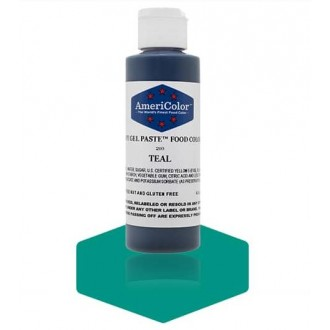 Teal Soft Gel Paste from Americolor 4.5 oz