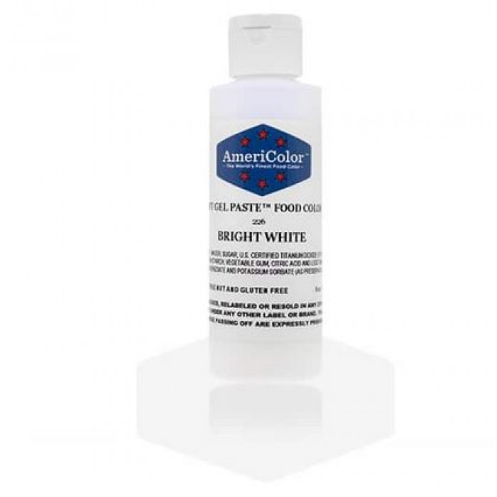 Bright White Soft Gel Paste from Americolor 6oz Medium