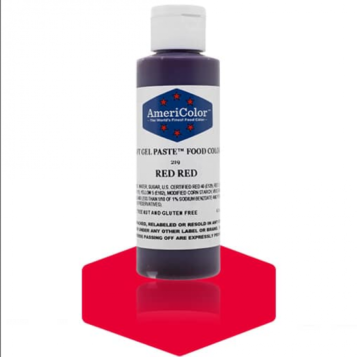 Red Red Soft Gel Paste from Americolor 4.5oz