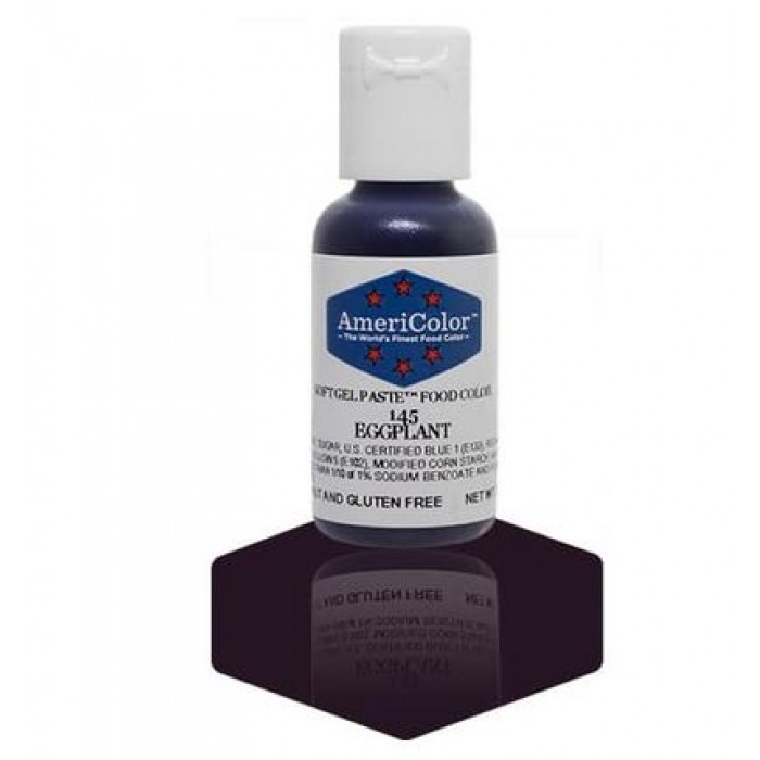 Eggplant Soft Gel Paste from Americolor