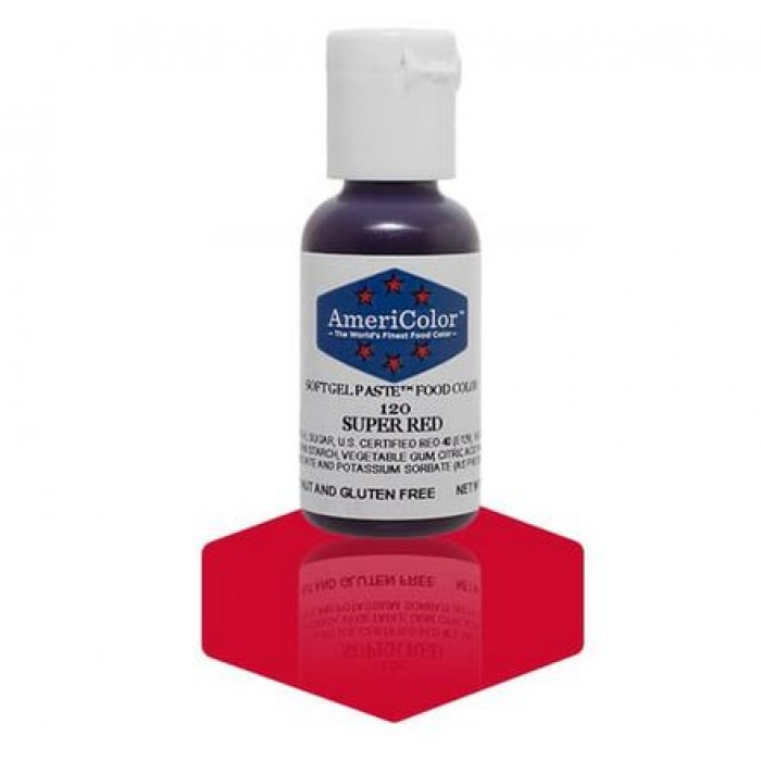 Red Super Red Gel Paste from Americolor