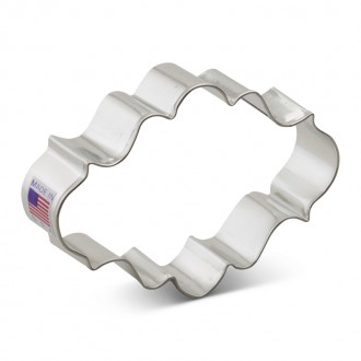 """Plaque Cookie Cutter Oval 4"""""""