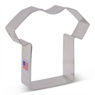 "T-Shirt Cookie Cutter 3 3/8""  from Flour Box Bakery"
