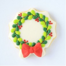 """Wreath w/ Bow Cookie Cutter 3.5"""""""