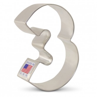Number 3 Cookie Cutter 3 1/4""
