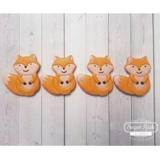Cute Fox Cookie Cutter 3 1/2""