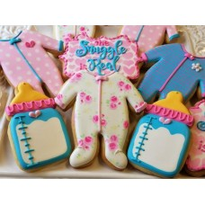 "Baby Footie Pajamas Cookie Cutter 4 1/2"" x 4 1/8"""