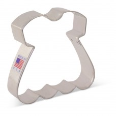 "Baby Dress Cookie Cutter 3 1/4"" x 3 1/2"" by Tunde's Creations"