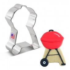 "BBQ Grill Cookie Cutter 3.75"" x 2.5"""
