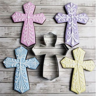 """Cross from Tunde's Creations Large Cookie Cutter 4"""" x 5.25"""" x 1"""""""