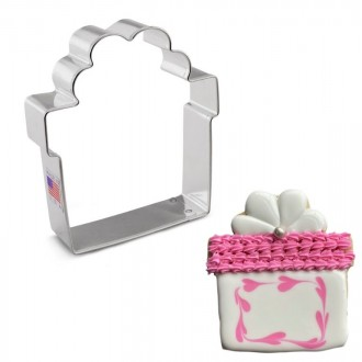 """Present with Bow Cookie Cutter by Flour Box Bakery, 3.25"""""""