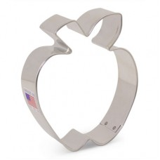 "Apple w/ leaf Cookie Cutter 3 1/2"" x 3"""