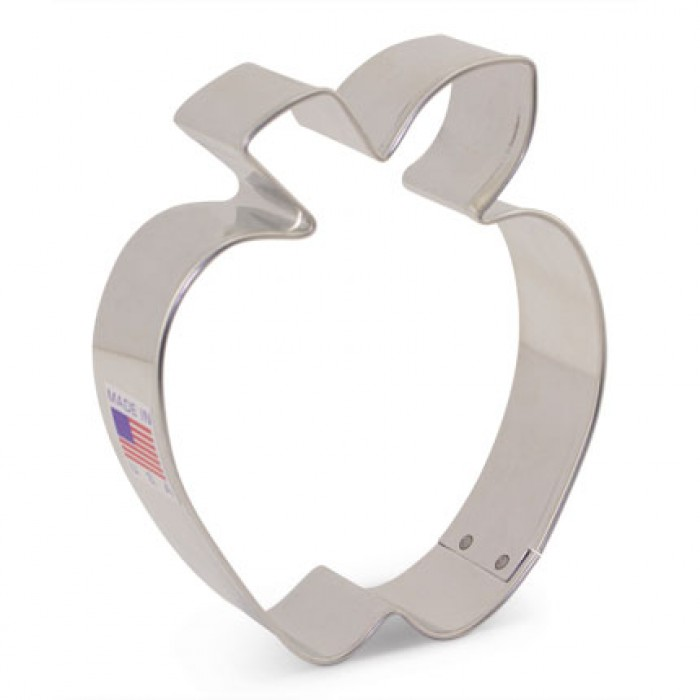 Mini Apple w/ leaf Cookie Cutter 2 1/8""