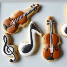 Music Note Cookie Cutter 3 1/2""