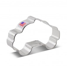 "Police Car Cookie Cutter, 3.75""x 2.5"""