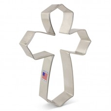 "Cross from Tunde's Creations Large Cookie Cutter 4"" x 5.25"" x 1"""