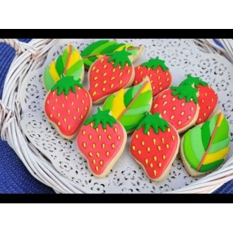 Strawberry Cookie Cutter 2 3/4''