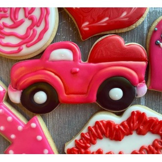 "Vintage Truck with Heart Cookie Cutter 5"" x 3"""