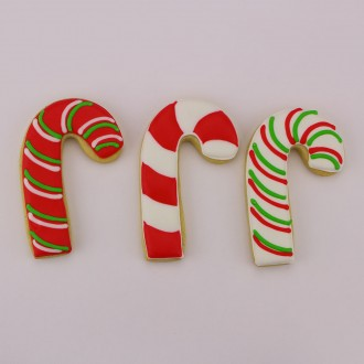 "Candy Cane Cookie Cutter 3 1/2"" x 2 1/4"""