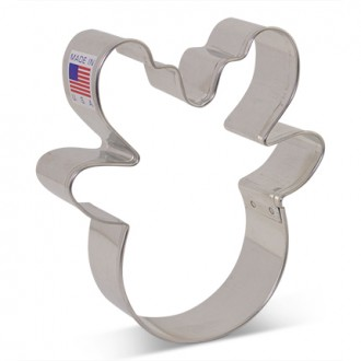 Reindeer Head Cookie Cutter 3 3/4'' from Flour Box Bakery