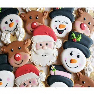Snowman Head Cookie Cutter 3 7/8'' from Flour Box Bakery