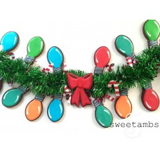 "Christmas Light Bulb Cookie Cutter 3 1/4"" x 1 7/8"""