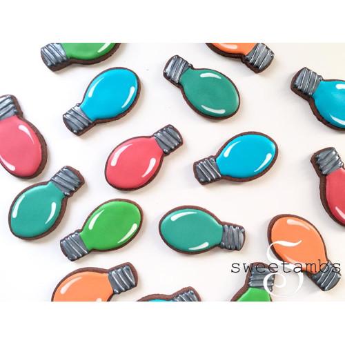 Christmas Light Bulb Cookie Cutter 3 1 4 X 1 7 8