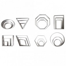 Ateco Stainless Steel Geometric Shapes Cutters - Set of 24