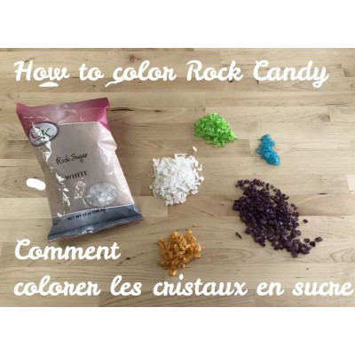 How to Color Rock Candy for Geode Cakes