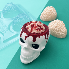 3 Part Mold for a Brain For Hot Cocoa Bomb - 10212
