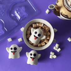 3 Part Mold for a Little Ghost For Hot Cocoa Bomb - 10214