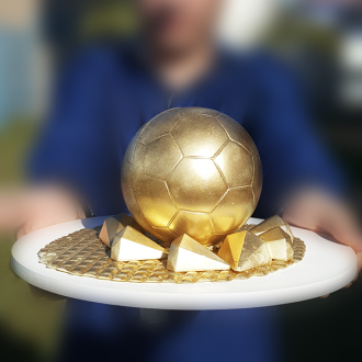 3 Part Mold for Perfect Soccer Ball for Smash Cakes - 810 (90mm)