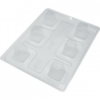 3 Part Mold for Elongated Box Chocolate Mould - 9433