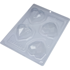 3 Part Mold for Perfect Geometric hearts for Hot Chocolat Bomb - 9836 (64mm) (Maximum 4 molds please )