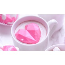 3 Part Mold for Perfect Geometric hearts for Hot Chocolat Bomb - 9836 (64mm)