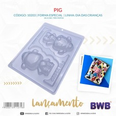 3 Part Mold Baby Pig For Smash Cake - 10203