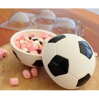 3 Part Mold for Perfect Soccer Ball for Smash Cakes - 1400 (160mm)