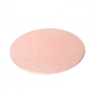 "Cake Board 10"" Masonite Rose Gold"