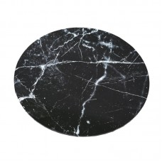 "Cake Board 14"" Masonite Black Marble"