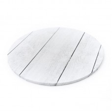 "Cake Board 10"" Masonite White Planks"