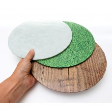 "Cake Board 10"" Masonite Grass"