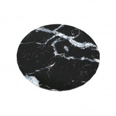 "Cake Board 10"" Masonite Black Marble"
