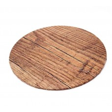 "Cake Board 14"" Masonite Wood Grain"
