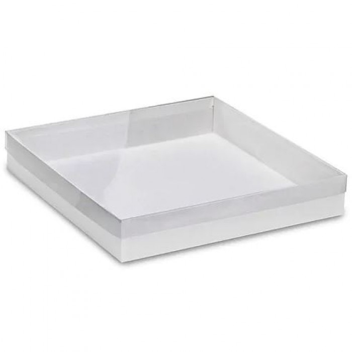 Clear Cover White Box Cookie Box (12*12*2) Pick Up only